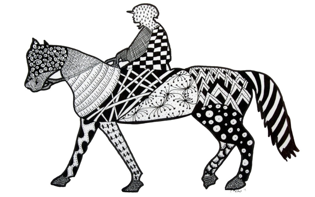 Horse & Jockey Zentangle