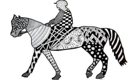 Horse & Jockey Zentangle
