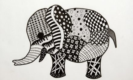 Elephant Zentangle