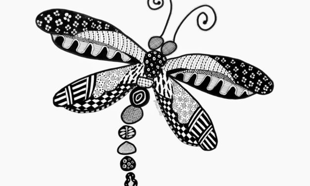 Dragonfly Zentangle – 25/365
