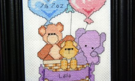 Birth Announcement Cross-Stitch