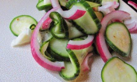 Cucumber-Zucchini Salad