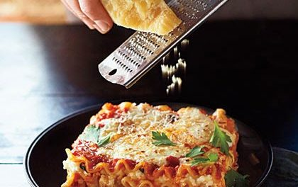 Three Cheese Vegetarian Lasagna
