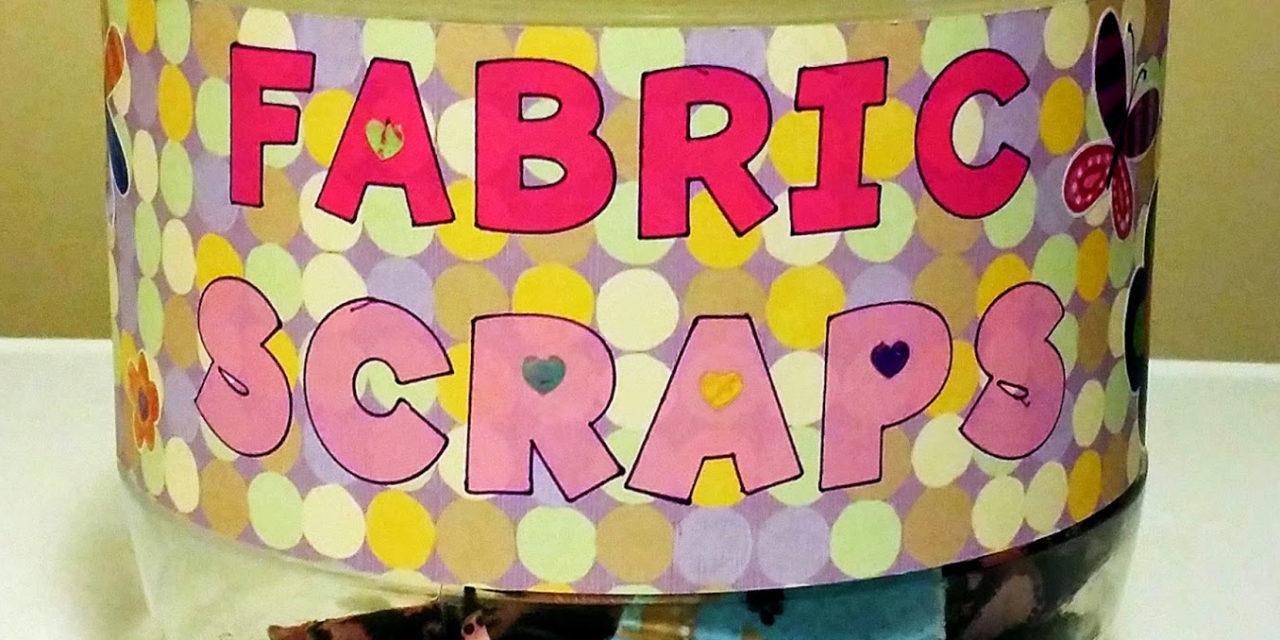 Fabric Scrap Organization