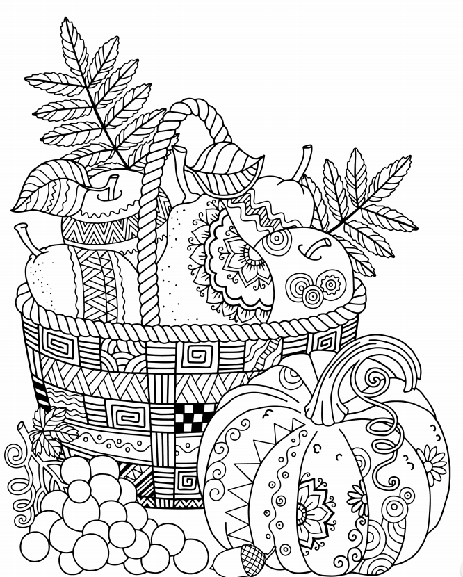 10 Free Autumn Adult Coloring Pages | Raining Crafts & Dogs