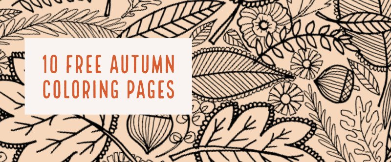 10 Free Autumn Coloring Pages