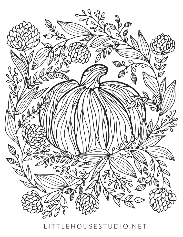 Free Autumn Coloring Page