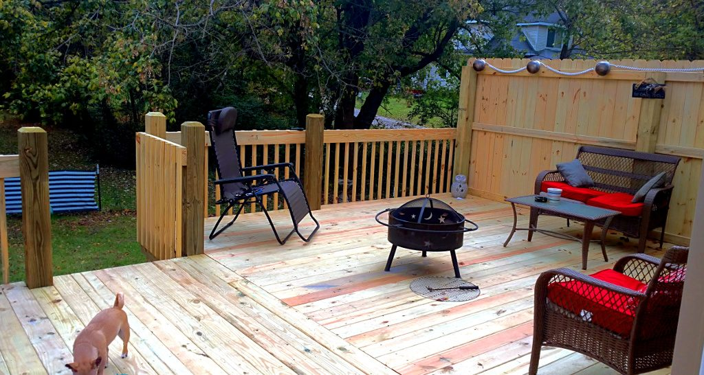 New Deck - Before and After