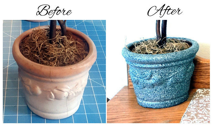 Tree Pot Before and After Painting