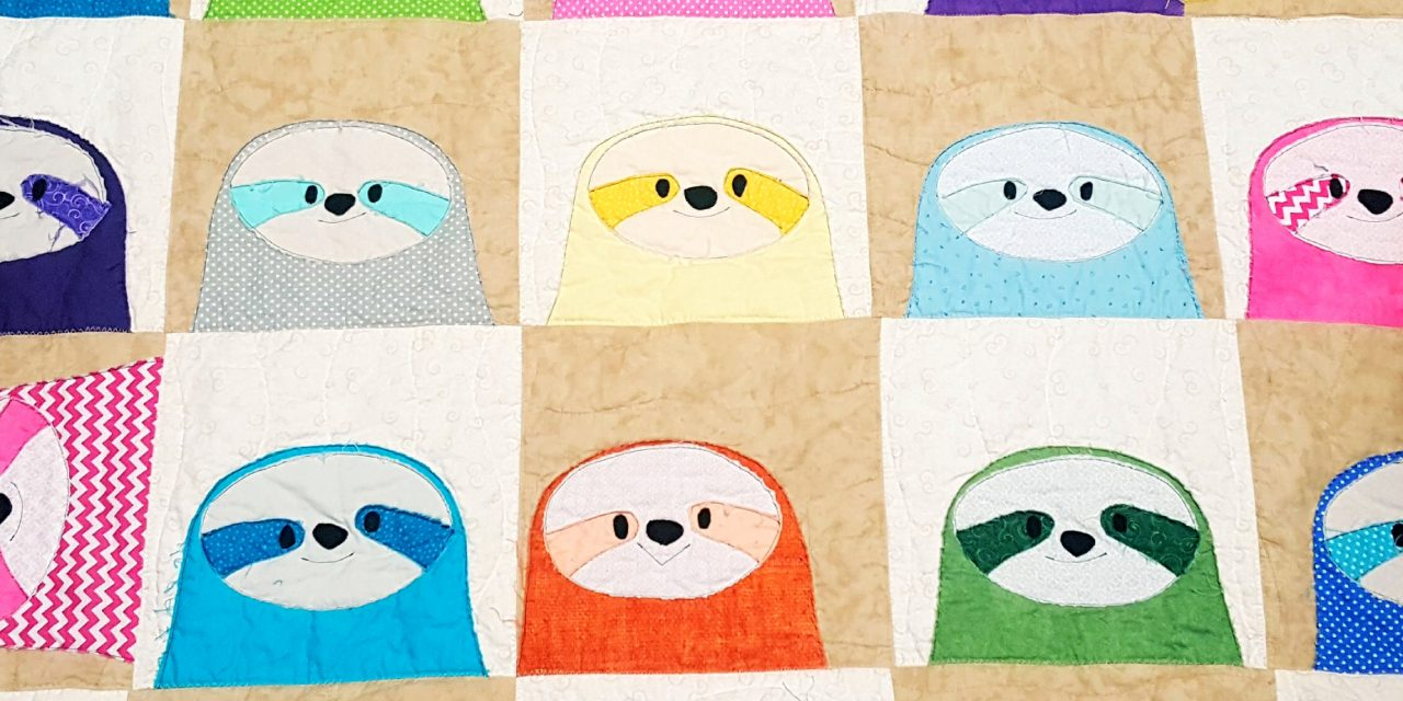 Silly Sloths Quilt Its Raining Crafts Dogs