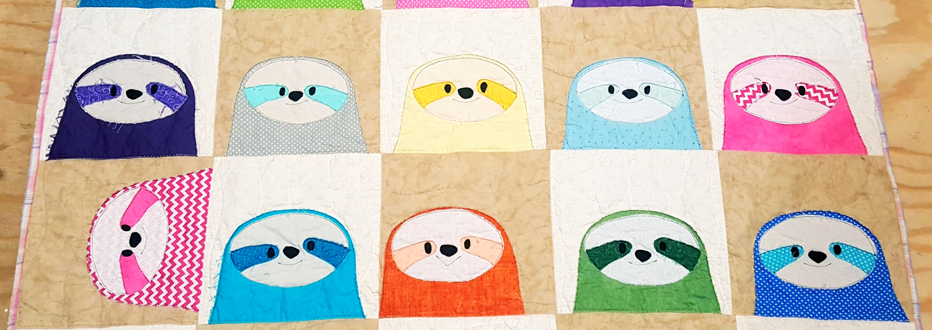 Silly Sloths Quilt