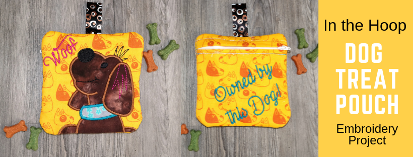 Embroidered Dog Treat Pouch