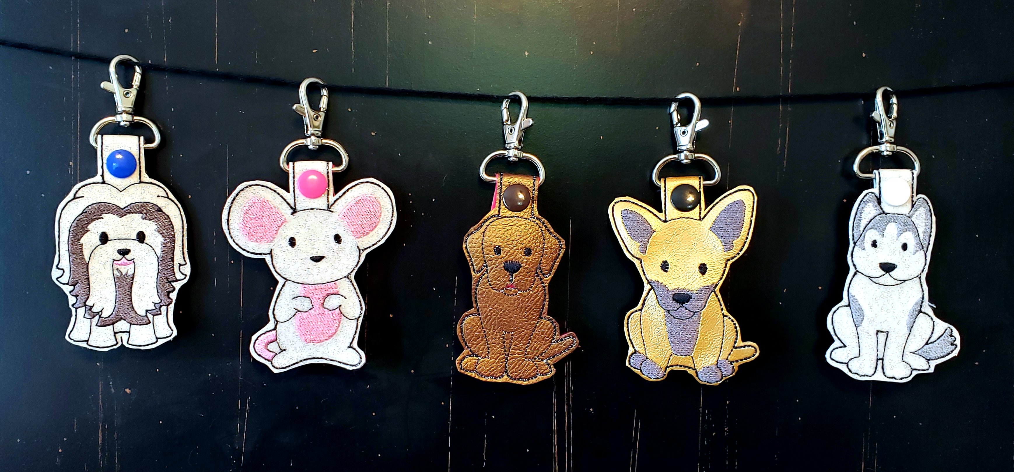 Custom Dog Breed Keychains