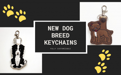 Border Collie and Pit Bull Keychains