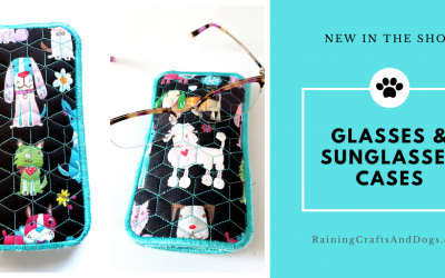New: Embroidered Glasses and Sunglasses Case