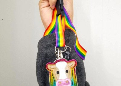 Rainbow Cow Sanitizer Holder