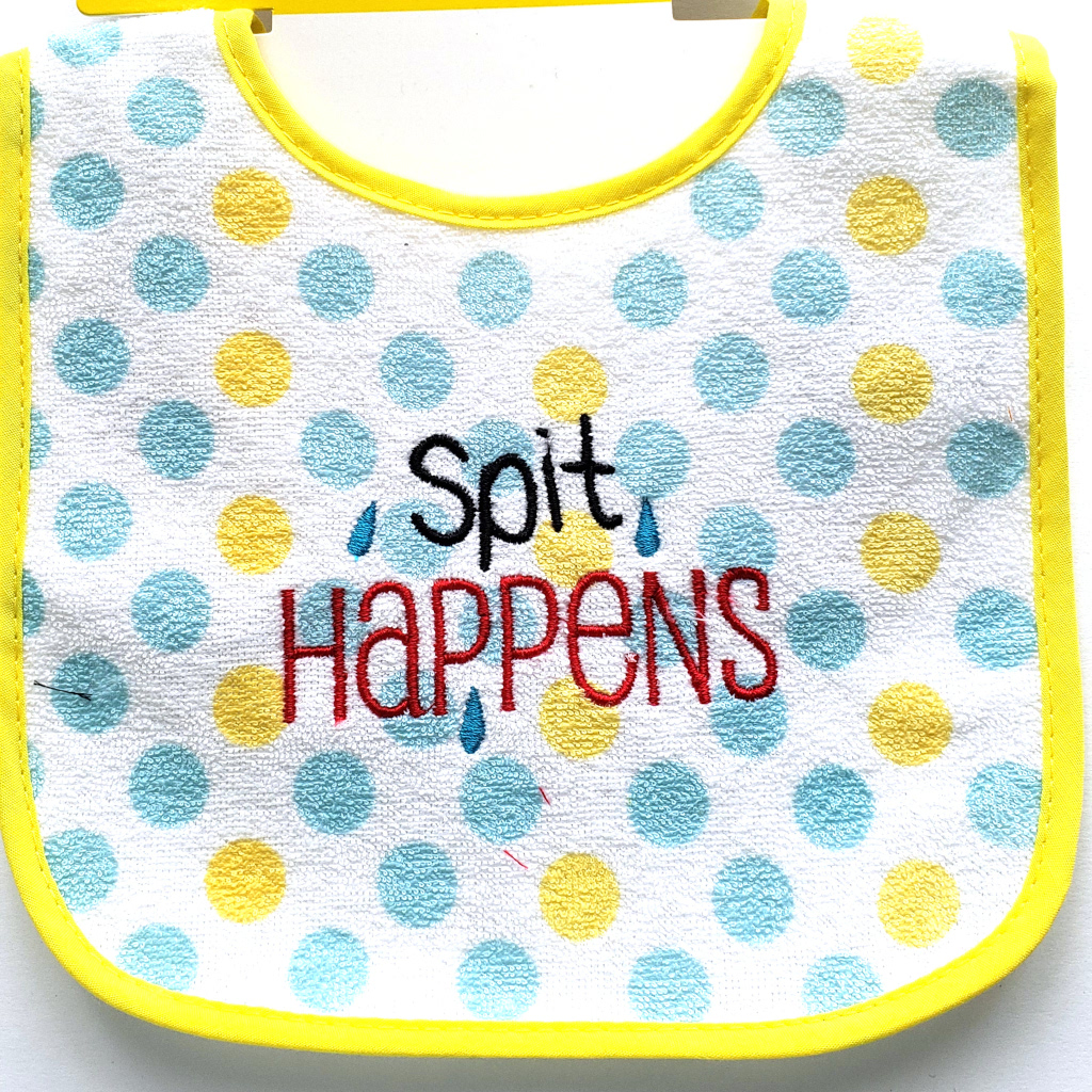Spit Happens Baby Bib
