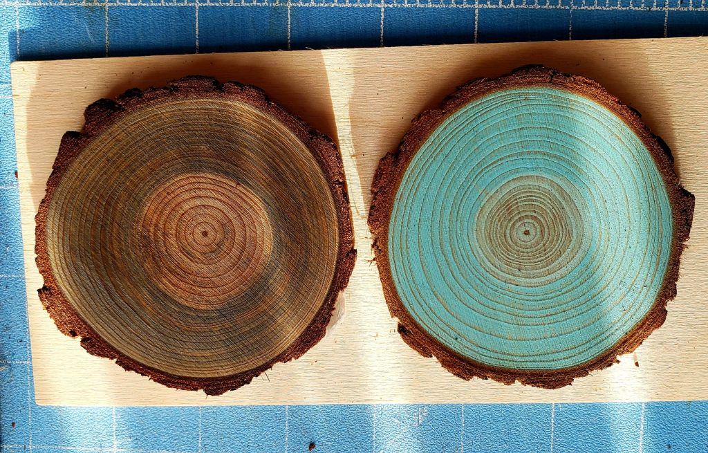 Stained Wood Slices