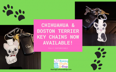 New: Chihuahua and Boston Terrier Cartoon Dog Key Chains