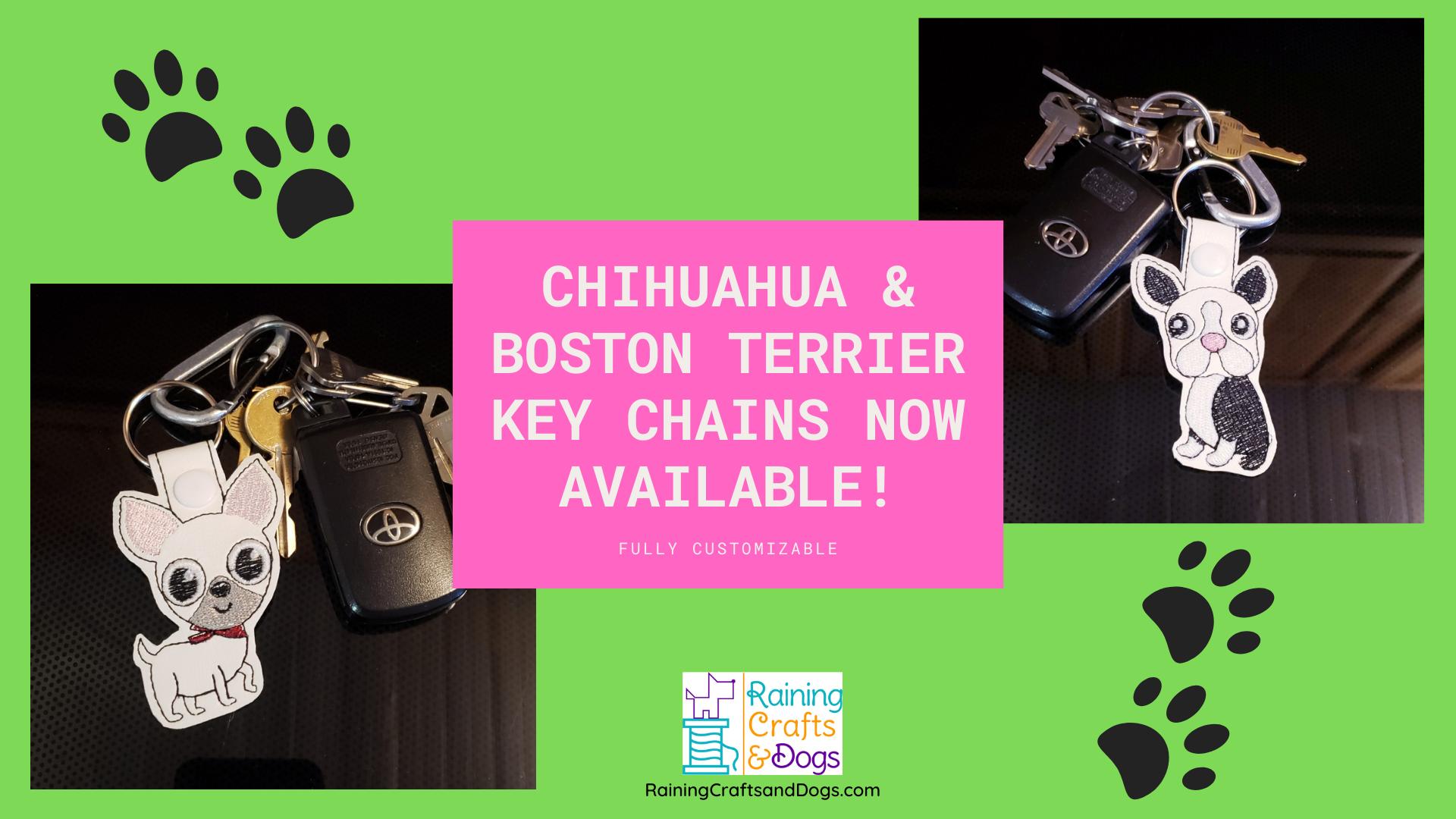 New Dog Breed Keychains